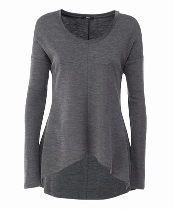 Charcoal Toora Merino Wool Top - Women