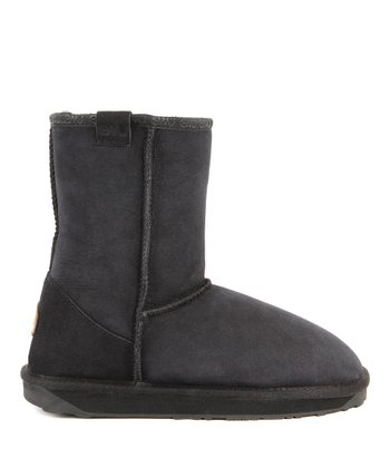 Black Suede Stinger Lo Boot - Women