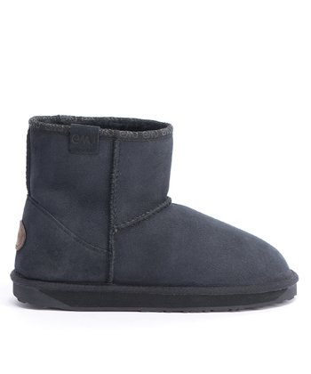 Black Suede Stinger Mini Boot - Women