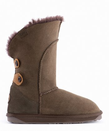 Chocolate Suede Alba Boot - Women