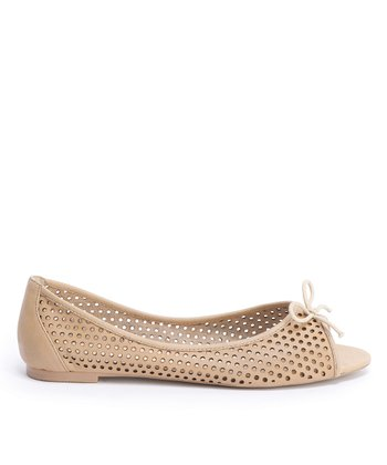 Bone Rocklea Peep-Toe Flat - Women