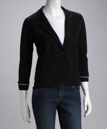 Black Keppel Bay Merino Wool Blazer - Women