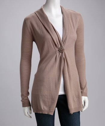 Camel Venus Bay Merino Wool Cardigan - Women