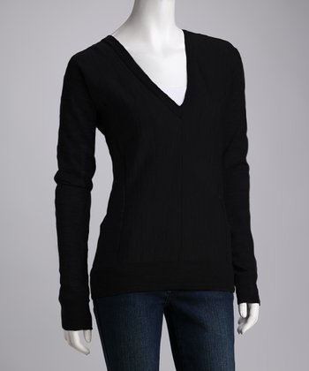 Black Melba Gully Merino Wool Sweater - Women