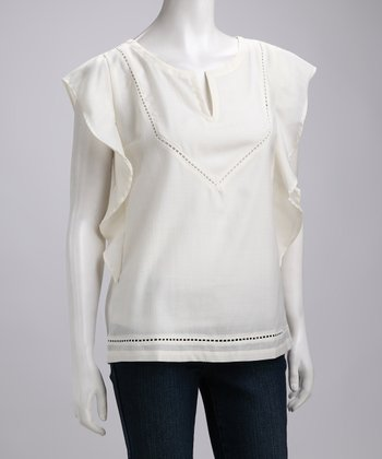 Natural Ballina Merino Wool Top - Women