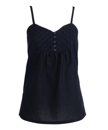 Black Moonee Reef Merino Wool Camisole - Women