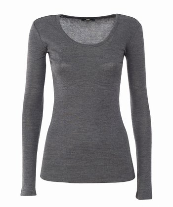 Charcoal Bondi Merino Wool Top