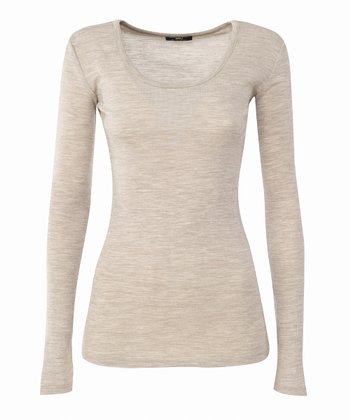 Sand Bondi Merino Wool Top - Women