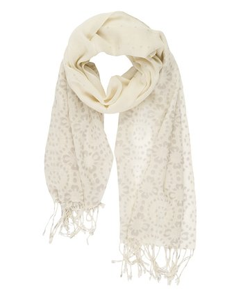 Natural Elliot Heads Merino Wool Scarf - Women