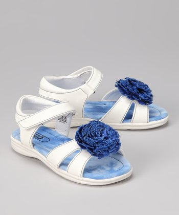White & Blue Blair Sandal