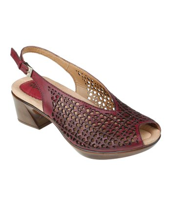 Regal Red Jacaranda Peep-Toe Sandal