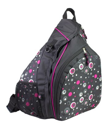 Black & Pink Geo Dot Sling Backpack