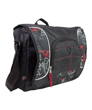 Black & Red Tag Graffiti Messenger