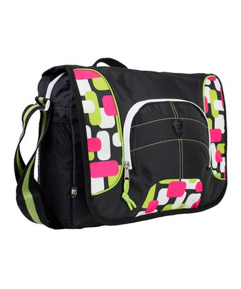 Green and Pink Trapezoidal Messenger