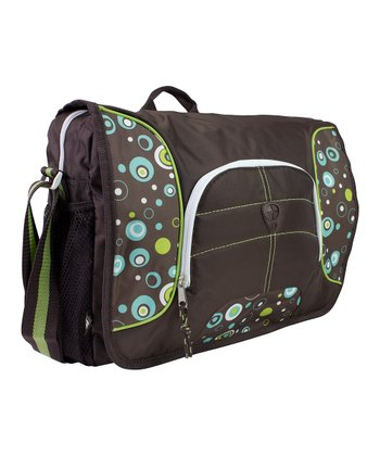 Green & Blue Geo Dot Messenger