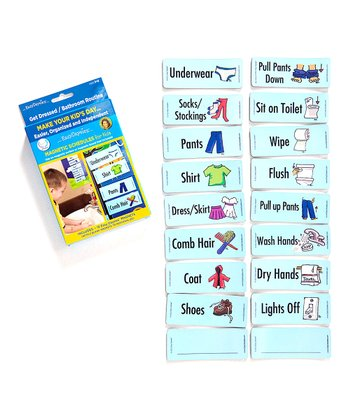 Get Dressed & Bathroom Routines Magnet Set