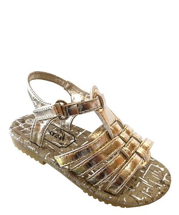Light Gold Strappy Sandal
