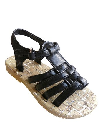 Black Strappy Sandal - Toddler