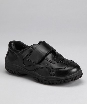 Black Stitch Fold-Over Shoe