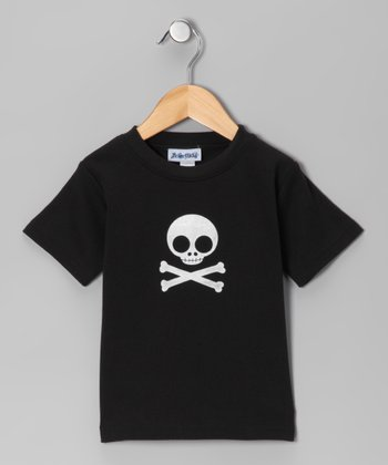 Black Beware Tee - Toddler & Boys