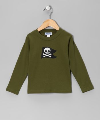 Olive Pirate Long-Sleeve Tee - Boys