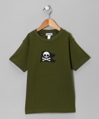 Olive Pirate Tee - Toddler & Boys