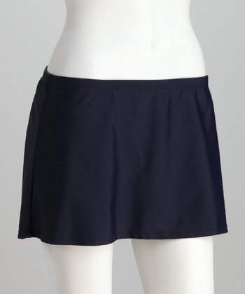 Navy Skirted Bikini Bottoms