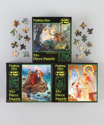 Glow-In-The-Dark Fantasy Puzzle Set