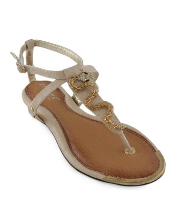 Beige Snake Sandal