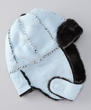 Edoche Blue Trapper Hat