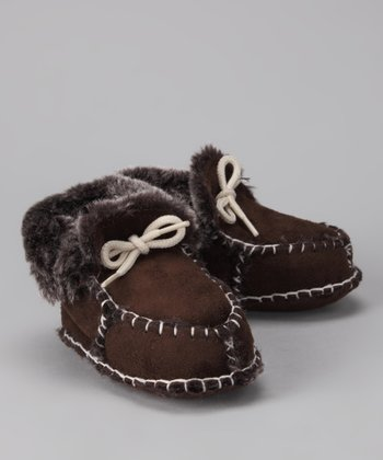 Brown Microsuede Moccasin