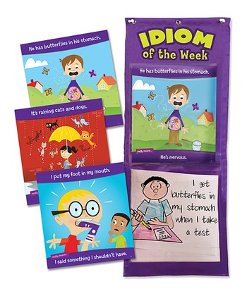 Idiom of the Week Pocket Chart Set