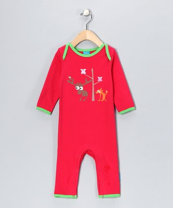 Red Critter Friend Playsuit - Infant