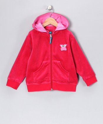 Red Owl Velour Jacket - Infant, Toddler & Girls