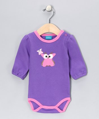 Lilac Vera the Owl Bodysuit - Infant