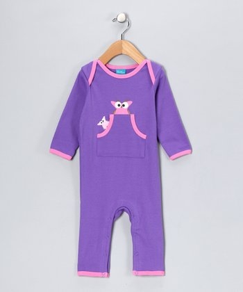 Lilac Vera the Owl Playsuit - Infant
