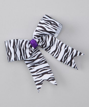 Purple Zebra Marin Bow