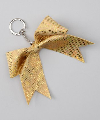 Gold Mystique Cheer Bow Key Chain