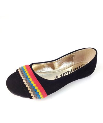 Black Mermaid Rainbow Ballet Flat