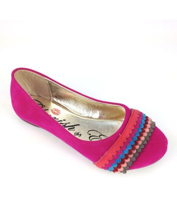 Fuchsia Mermaid Rainbow Ballet Flat