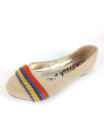 Nude Mermaid Rainbow Ballet Flat