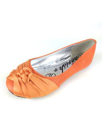 Orange Mermaid Knot Ballet Flat