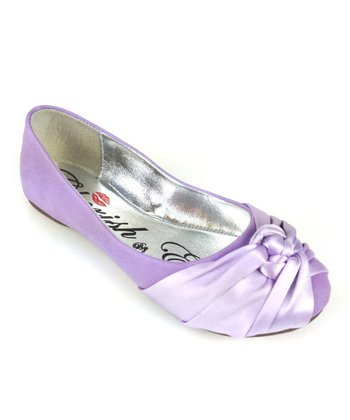 Purple Mermaid Knot Ballet Flat