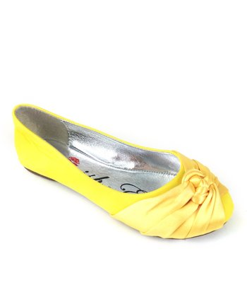 Yellow Mermaid Knot Ballet Flat