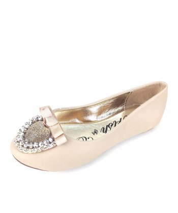 Elegant Footwear Nude Mermaid Bow Ballet Flat