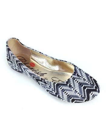 Black Mermaid Zigzag Ballet Flat