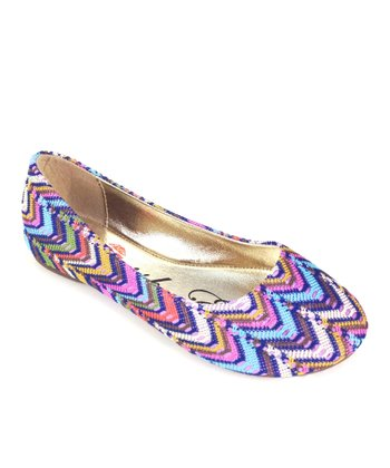 Purple Mermaid Zigzag Ballet Flat