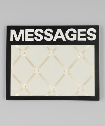 Black 'Messages' Board