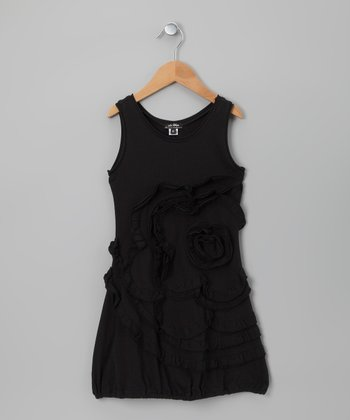 Black Antigone Dress - Girls