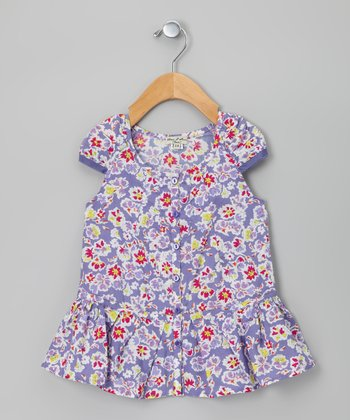 Lilac Floral Caramelle Dress - Toddler & Girls